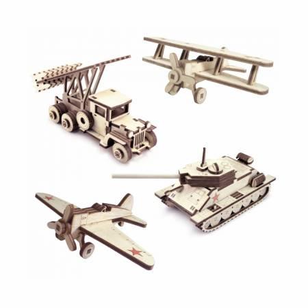 """Lemmo - Набор из 4 моделей """"Военная техника"""""""